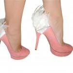 White Feather Heel Condom